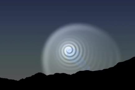ロケット失敗の夜空