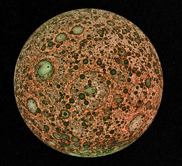 かぐやが撮影した月の裏側
