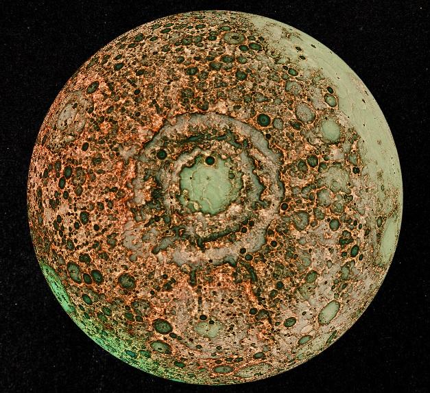 月の巨大隕石跡