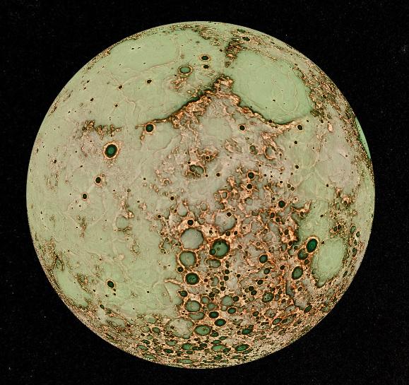 かぐやが撮影した月の表面